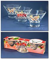 "Набор стеклянных креманок (3шт./наб.) 250мл 8х11,5см ""Яблочный цветок"""