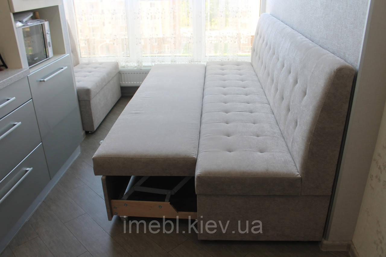 Кухонные диваны в узкую кухню (Серые)