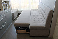Кухонные диваны в узкую кухню (Серые), фото 1