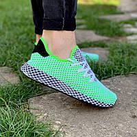 Кроссовки мужские Adidas летние яркие удобные легкие в салатовом цвете, ТОП-реплика, фото 1