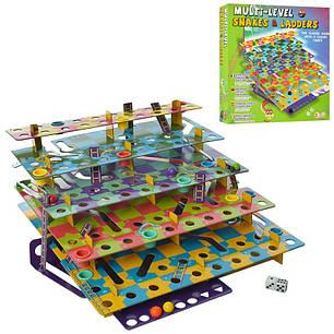 Настольная игра Змеи и лестницы, Multi-Level Snakes & Ladders, фото 2