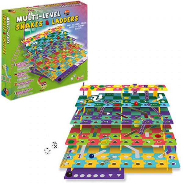 Настольная игра Змеи и лестницы, Multi-Level Snakes & Ladders