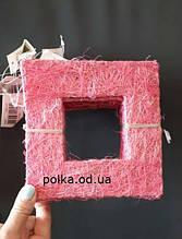 Декоративная рамка из сизаля 15*15см(1 уп-10шт)