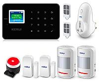 Комплект сигнализации Kerui alarm G18 plus с умной радиорозеткой black