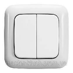 Выключатель двухклавишный ABB Reflex накладка