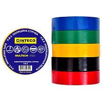 Изолента Разноцветная 30м  INTECO    MULTECH PRO  ( Электроизоляционная лента Интеко)