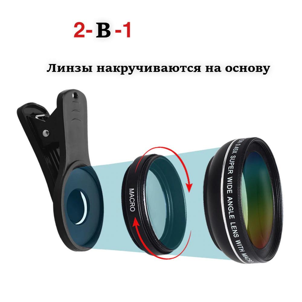 Линза объектив для iphone, смартфона, камеры, фотоаппарата