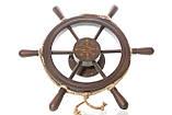 Штурвал на стену с компасом и поворотным механизмом 55 см, фото 2