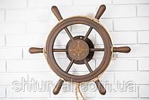 Штурвал на стену с компасом и поворотным механизмом 55 см