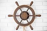 Штурвал на стену с компасом и поворотным механизмом 55 см, фото 5