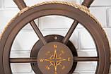 Штурвал на стену с компасом и поворотным механизмом 55 см, фото 7
