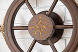 Штурвал на стену с компасом и поворотным механизмом 55 см, фото 9