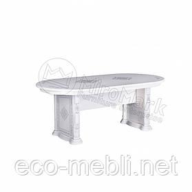 Стіл столовий у вітальню Чикаго Білий Глянець Міромарк
