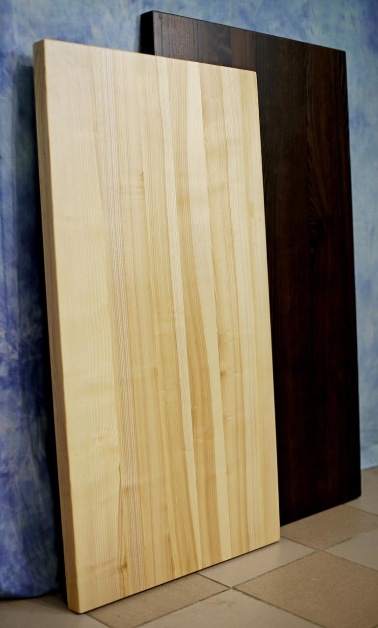 Столешница покрытая лаком из массива дерева ясень
