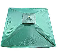 Зонт 2х2 м, с клапаном. Серебренное покрытие. Зелёный
