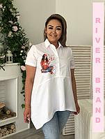 Рубашка-туника в разных расцветках, с 48-82 размер, фото 1