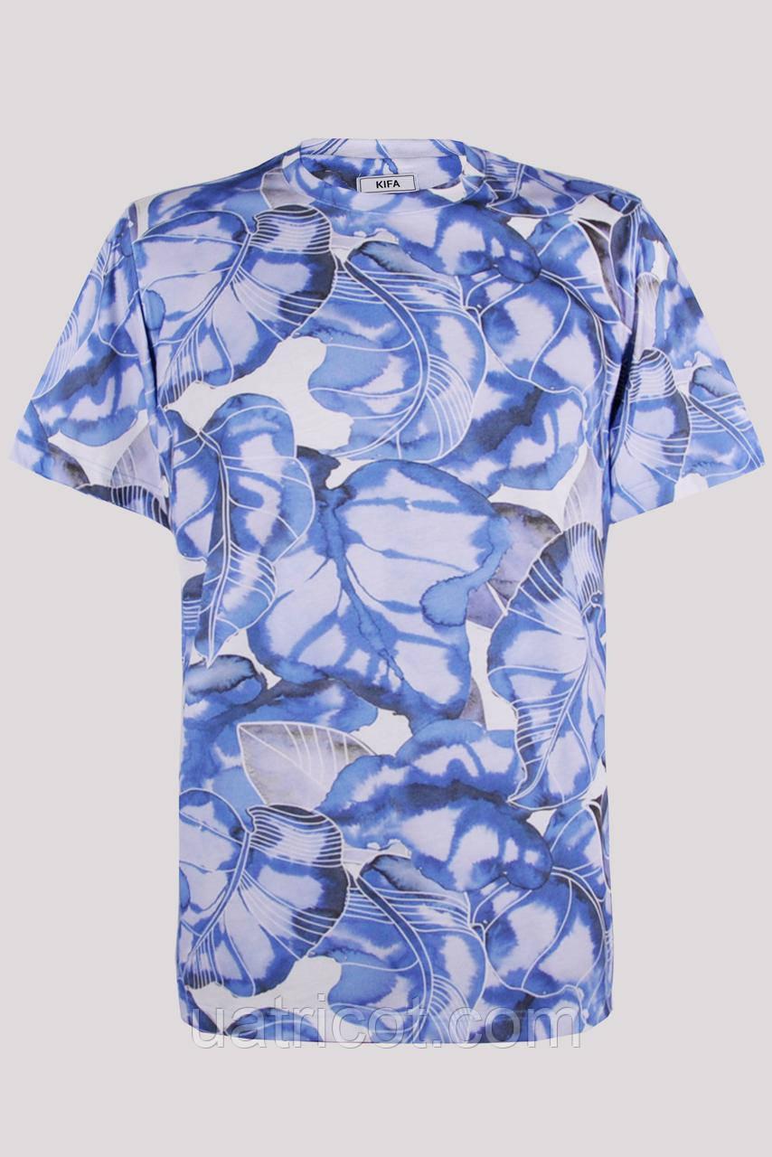 Футболка мужская KIFA ФМХ-019/25 синие листья