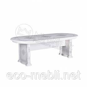Стіл столовий розсувний у вітальню Чикаго Білий Глянець Міромарк