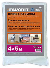Пленка малярная защитная Favorit 20 мкм 4 х 5 м (10-804)