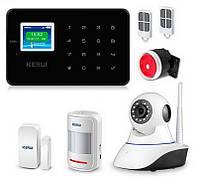 Комплект сигнализации Kerui alarm G18 с Wi-Fi IP камерой black