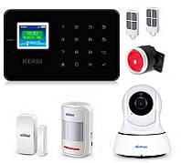 Комплект сигнализации Kerui G18 с видео Wi-Fi IP камерой black