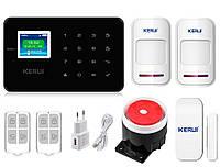 Комплект сигнализации Kerui G18 для 1-комнатной квартиры black