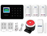 Комплект сигнализации Kerui G18 для 2-комнатной квартиры black