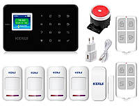 Комплект сигнализации Kerui G18 для 3-комнатной квартиры black