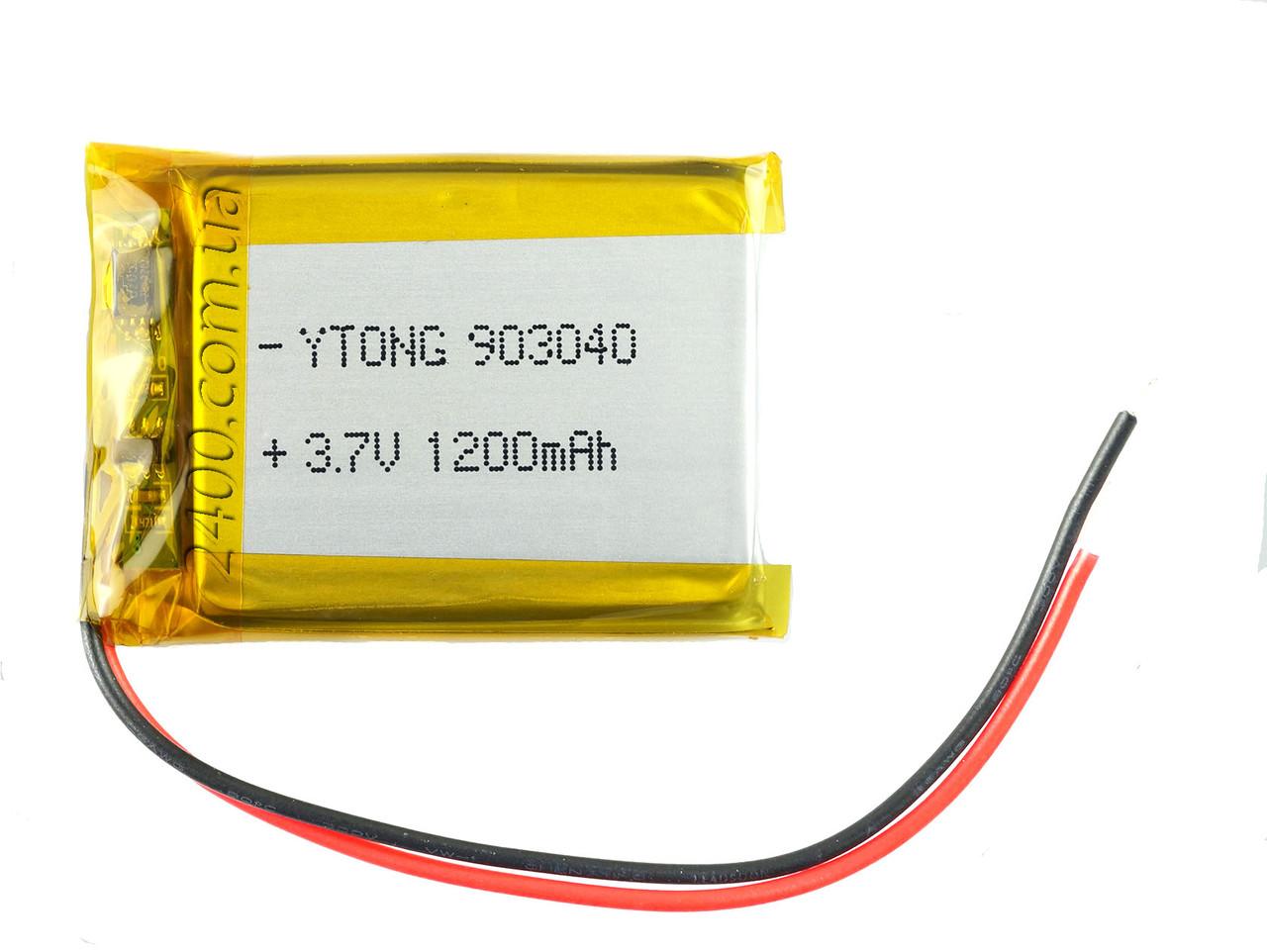 Аккумулятор 1200мАч 903040 3,7в для модемов, MP3 плееров, GPS навигаторов, електроных книг (1200mAh)