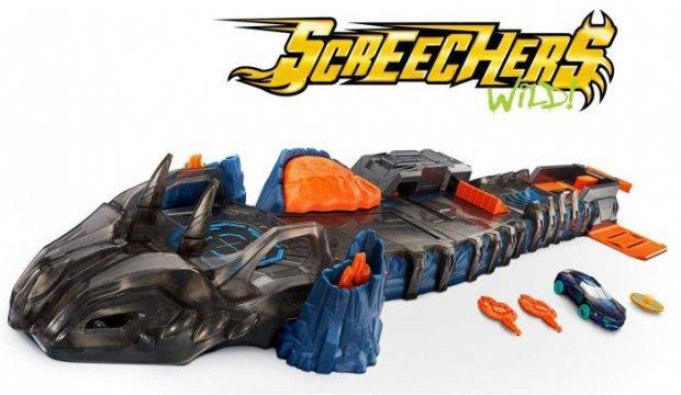 Игровой набор для запуска Дикие Скричеры Огненный дракон Screechers Wild Fossil Fire