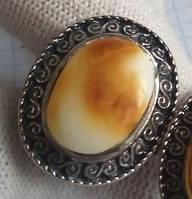 Кольцо с натуральным янтарем вес 8г размер безразмерное
