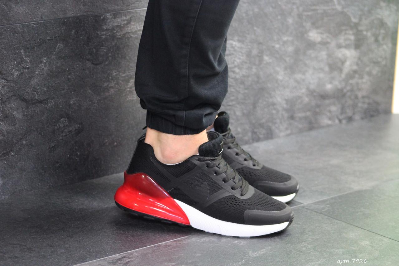 37d360344 Мужские кроссовки найк аир макс 270 черные красные спортивные (реплика) Nike  Air Max 270 Black Red