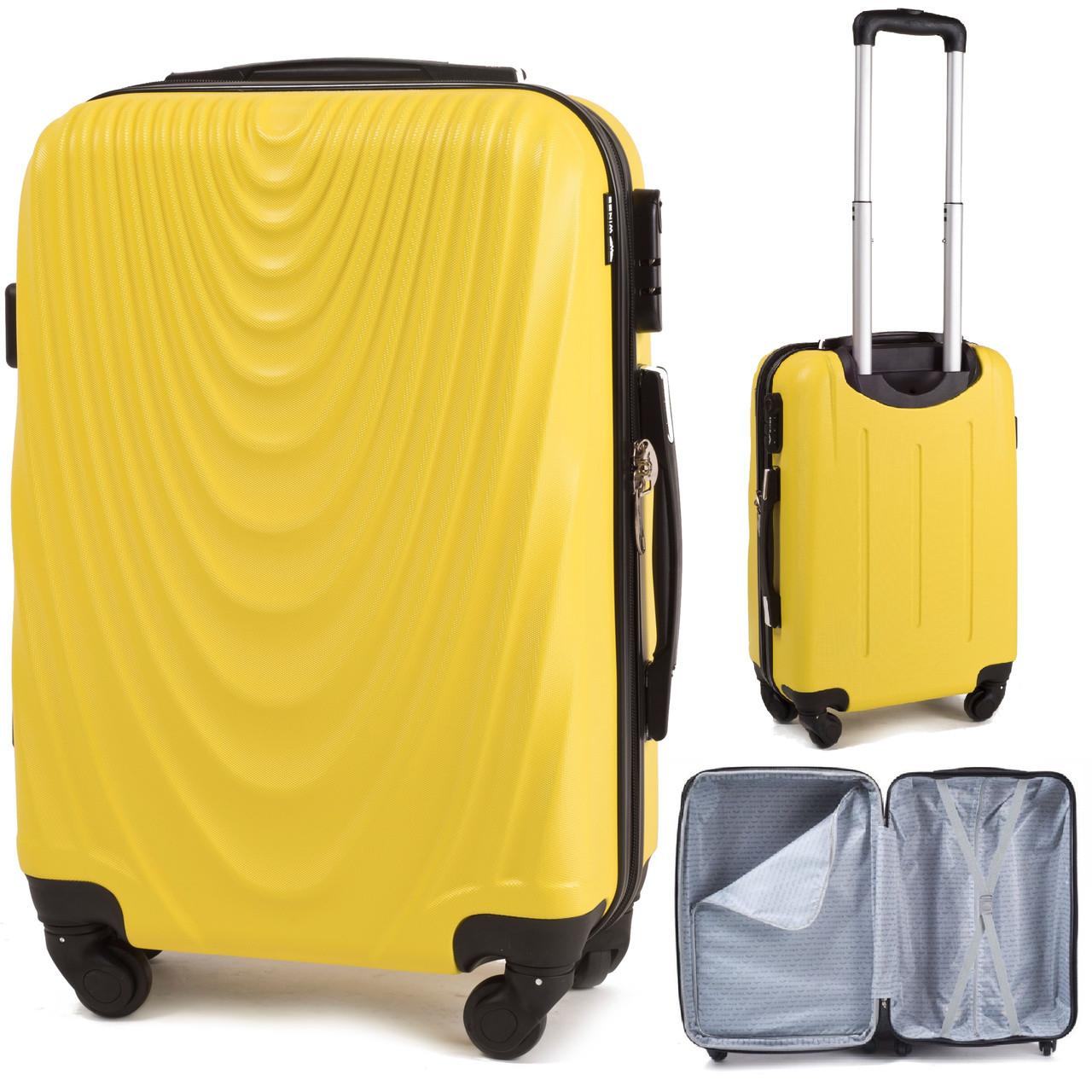 Чемодан Wings 305 пластиковый Мини (XS) Желтый