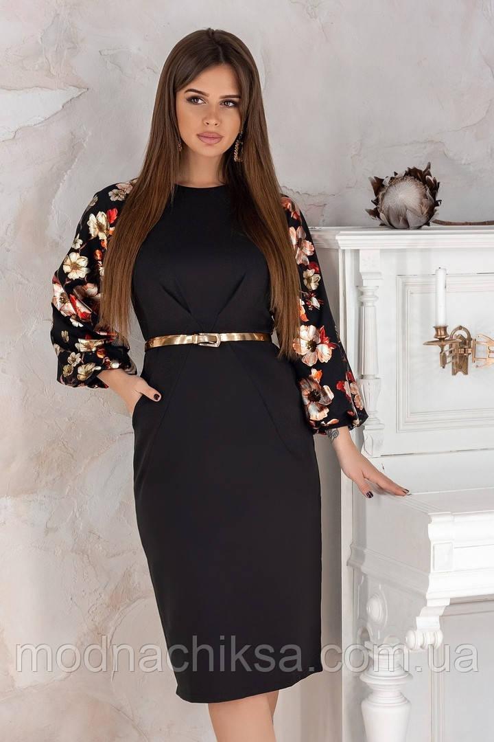Платье рукава фольга на сетке