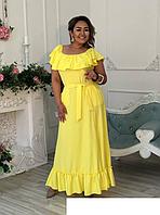 Летнее платье макси на пышных женщин, с 48-98 размер, фото 1