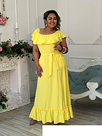 Літнє плаття максі на пишних жінок, з 48-98 розмір, фото 1