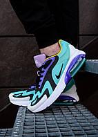Мужские кроссовки Nike на лето разноцветные молодежные стильные найки на шнуровке (бирюзовые),  ТОП-реплика, фото 1
