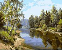Раскраска на холсте Летний полдень Худ, Прищепа Игорь  40 х 50 см