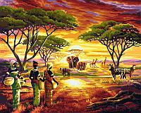 Живопись по цифрам на холсте Африка  40 х 50 см