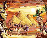Живопись по цифрам на холсте Загадочный Египет  40 х 50 см