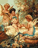 Раскраска на холсте Купидоны Худ, Моро Густав  40 х 50 см