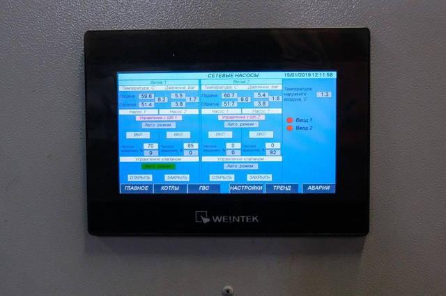 Котельная 6 МВт. 4 котла по 1,5 МВт. Котельная работает на отопление и ГВС. Автоматическая подача топлива.