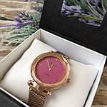 Женские наручные часы золото с розовым циферблатом, фото 2