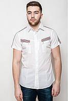 Молодёжная рубашка с оригинальными карманы и декоративной отделкой