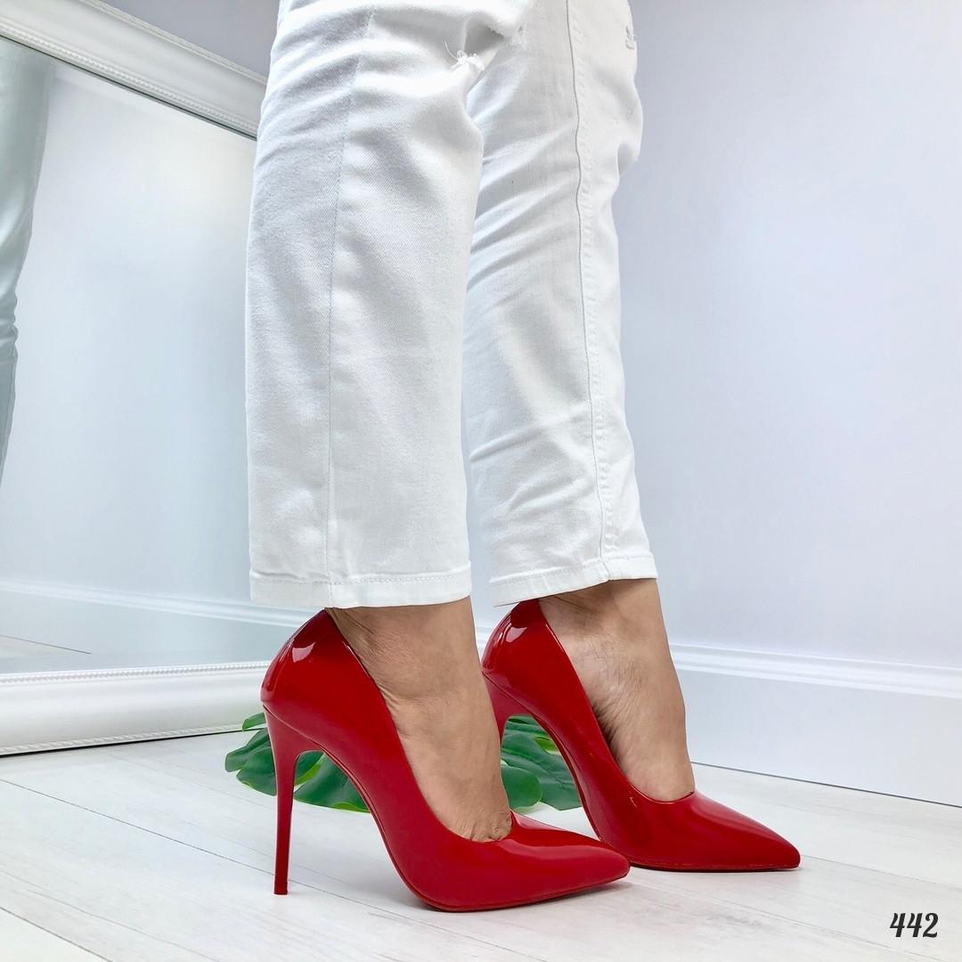 Женские туфли красные Poland 442