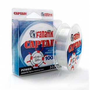 Леска Fanatik Nylon CAPTAIN 100м 0.14мм 3.65кг