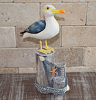Фигурка чайки на бревнах, фото 1