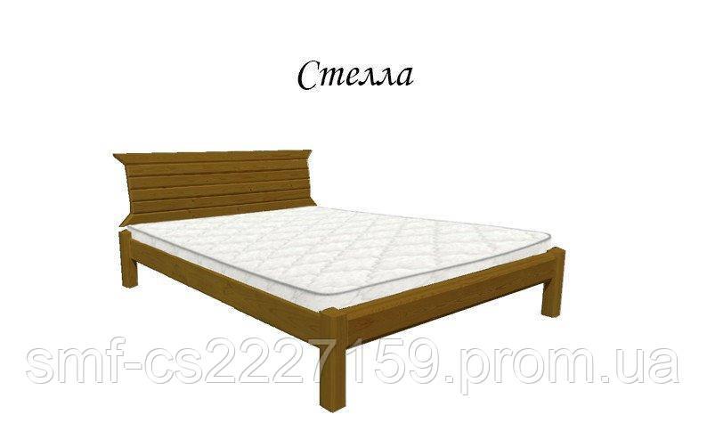 Двоспальне ліжко Сміф Стелла з натурального дерева
