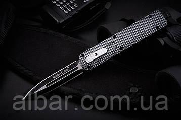 Нож выкидной, надежная автоматика+чехол из ткани.