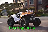 Детский электромобиль 4WD полноприводный Джип BMW оранжевый цвет. Електрокар дитячий БМВ електромобіль M 4064